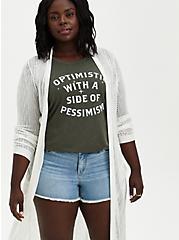 Plus Size Pointelle Duster - White, BRIGHT WHITE, alternate
