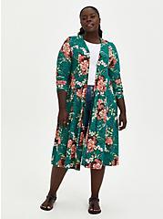 Fit & Flare Cardigan Sweater - Super Soft Floral Green, FLORAL, hi-res