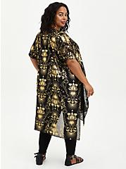 Plus Size Disney The Princess & The Frog Tiana Duster Kimono, DEEP BLACK, alternate