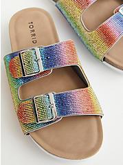 Celebrate Love Rainbow Embellished Slip-On Sandal (WW), RAINBOW, hi-res