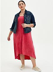 Coral Wash Super Soft Hi-Lo Maxi Dress , CORAL, alternate