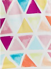 Babydoll Tunic - Challis Multi Triangle, TRIANGLE - WHITE, alternate