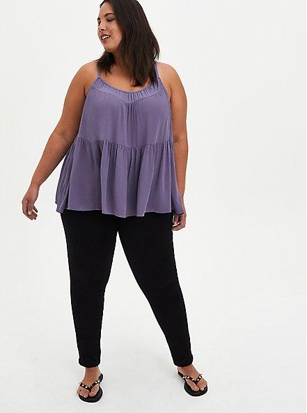 Tiered Cami - Gauze Purple, , alternate