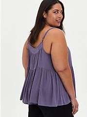 Plus Size Tiered Cami - Gauze Blue, BLUE, alternate