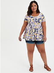 Tiered Babydoll Top - Summer Floral , OTHER PRINTS, alternate