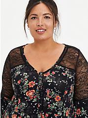 Bell Sleeve Top - Super Soft Floral Black, OTHER PRINTS, alternate
