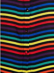 Celebrate Love Abbey Blouse - Georgette Rainbow Multi Stripe, STRIPE - MULTI, alternate