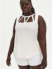 Blush Georgette Cage Front Tank, PEARL, alternate