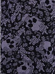 Harper - Black Floral Skull Gauze Pullover Blouse, MULTI, alternate