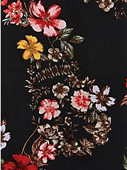 Dolman Blouse - Challis Floral Black, FLORAL - BLACK, alternate