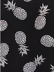 Tulip Sleeve Blouse - Georgette Pineapple Black, , alternate