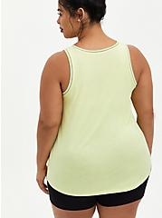 Classic Fit Ringer Tank - Out Of Office Neon Lime, SUNNY LIME, alternate