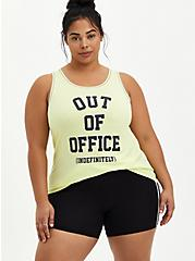 Classic Fit Ringer Tank - Out Of Office Neon Lime, SUNNY LIME, hi-res