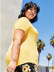 Plus Size Classic Fit V-Neck Tee – Be The Change Yellow, MINERAL YELLOW, alternate