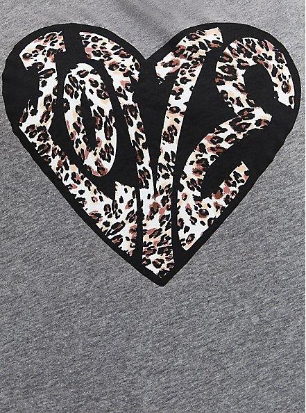 Off Shoulder Tee - Heritage Slub Leopard Love Grey, MEDIUM HEATHER GREY, alternate