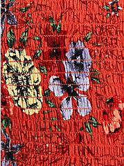 Red Floral Gauze Smocked Halter, FLORAL - RED, alternate