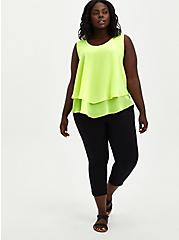 Double Layer Tank - Chiffon Neon Lime, SUNNY LIME, alternate