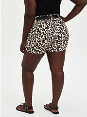 Leopard Belted Sateen Short, OTHER PRINTS, alternate