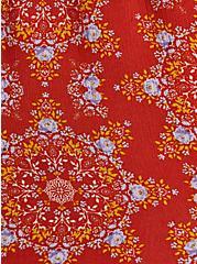 Red Medallion Print Gauze Smock Short, OTHER PRINTS, alternate