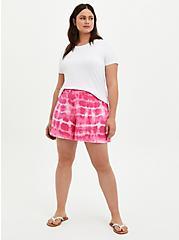 Plus Size Super Soft Pink Tie Dye Short, TIE DYE, alternate