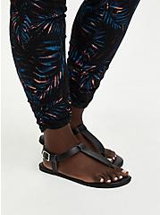 Relaxed Fit Ruched Jogger - Stretch Challis Palms Black, OTHER PRINTS, alternate