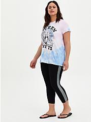 Crop Premium Legging Dotted Side Stripe - Black, BLACK, alternate