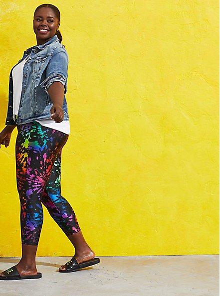 Celebrate Love Crop Premium Legging - Liquid Tie Dye, TIE DYE, alternate