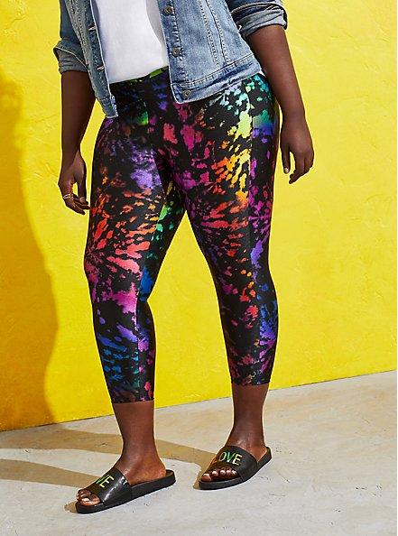 Celebrate Love Crop Premium Legging - Liquid Tie Dye, TIE DYE, hi-res