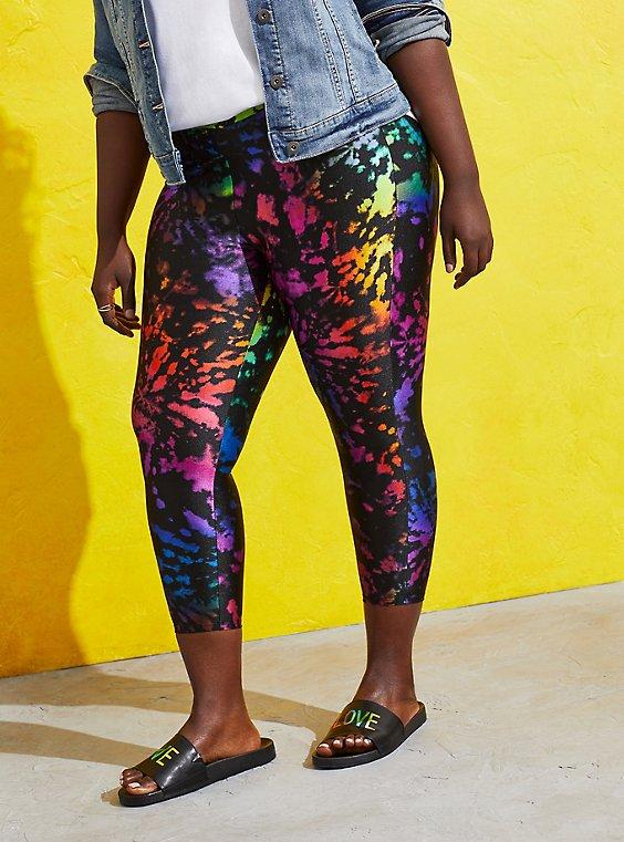 Celebrate Love Crop Premium Legging - Liquid Tie Dye, , hi-res