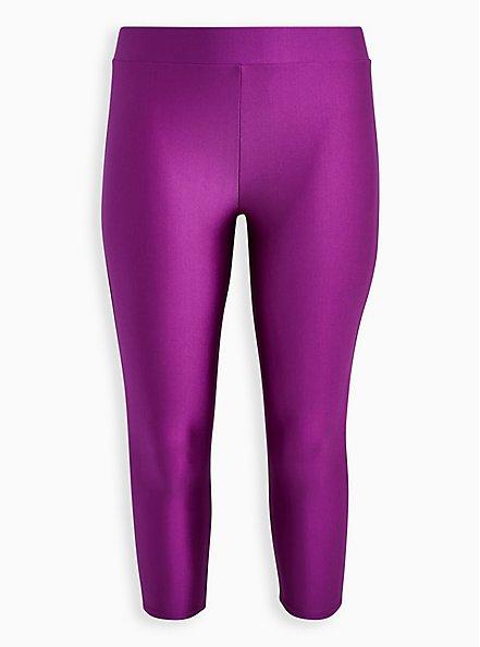 Crop Premium Legging - Liquid Purple, PURPLE, hi-res