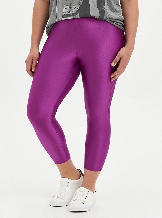 Crop Premium Legging - Liquid Purple, , hi-res