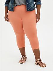 Capri Premium Legging - Coral, ORANGE, alternate