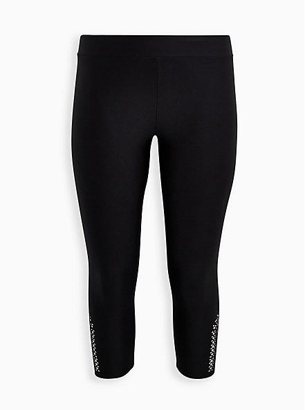 Crop Legging Cutout Side Detail - Liquid Black, BLACK, hi-res
