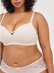 Plus Size Breast Cancer Awareness Push-Up Wirefree Bra - Pink with 360° Back Smoothing™, LOTUS PINK, alternate