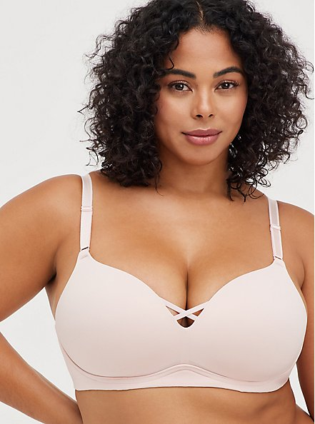 Breast Cancer Awareness Push-Up Wirefree Bra - Pink with 360° Back Smoothing™, LOTUS PINK, alternate