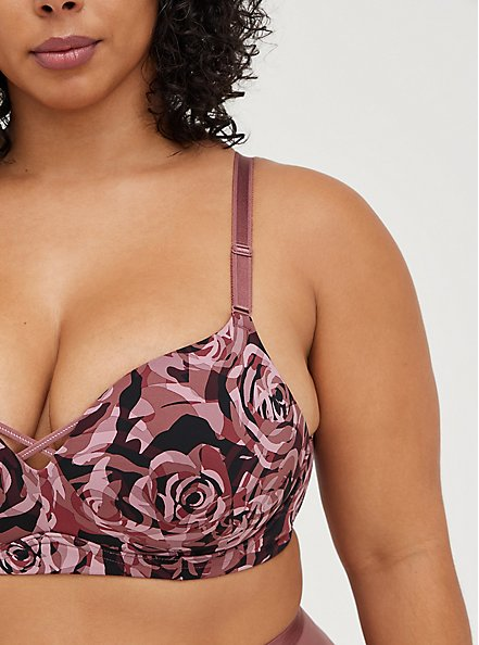 Push-Up Plunge Wire-Free Bra - Rose Camo with 360° Back Smoothing™ , ROSEY CAMO, alternate