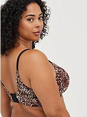 Plus Size Lightly Lined Everyday Wire-Free Bra - Leopard with 360° Back Smoothing™, MIDI LEOPARD, alternate
