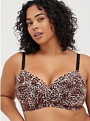 Plus Size Lightly Lined Everyday Wire-Free Bra - Leopard with 360° Back Smoothing™, MIDI LEOPARD, hi-res
