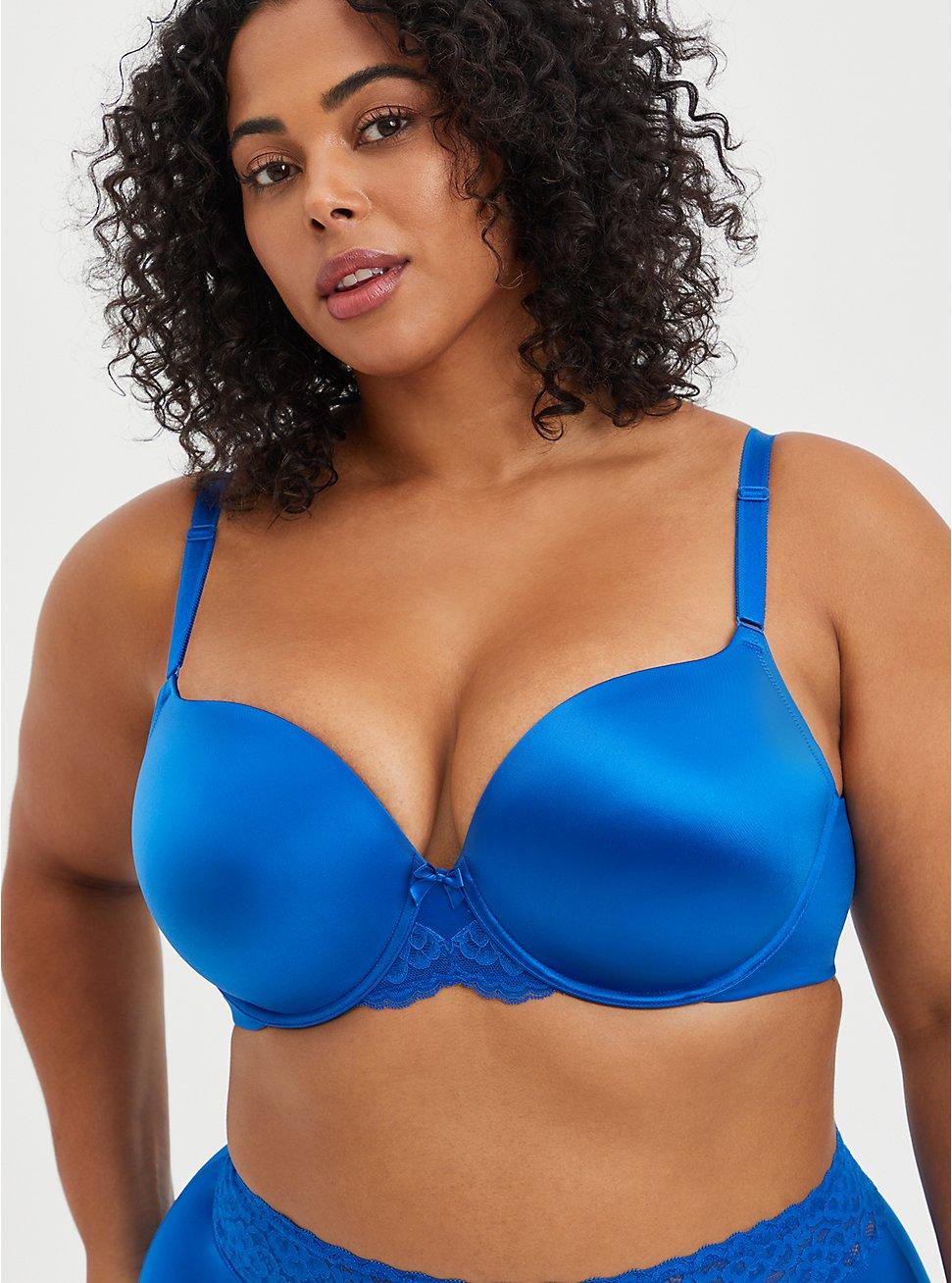 Push-Up T-Shirt Bra - Blue With 360° Back Smoothing™ , LAPIS BLUE, hi-res