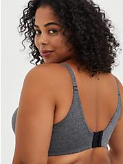 Push-Up T-Shirt Bra - Heather Grey With 360° Back Smoothing™, HEATHER GREY, alternate