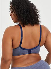 Lightly Lined T-Shirt Bra - Heather Blue with 360° Back Smoothing™ , HEATHER BLUE  NAVY, alternate