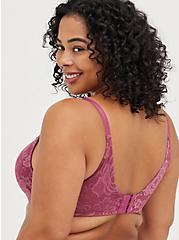 Plus Size Full Coverage Balconette Bra - Lace Pink with 360° Back Smoothing™ , VIOLET QUARTZ, alternate