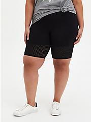 Black Laser Dot Hem Bike Short, BLACK, alternate
