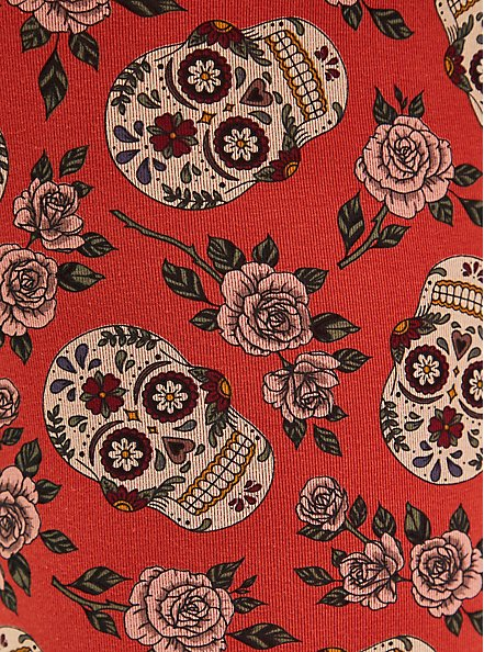 Premium Legging - Ditsy Skulls Print, MULTI, alternate
