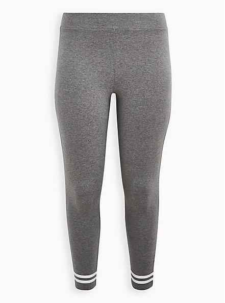 Premium Legging - Ankle Stripe Grey, GREY, hi-res