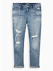 Boyfriend Straight Jean - Vintage Stretch Medium Wash, NO WAY JOSE, hi-res