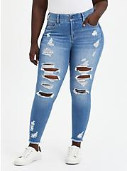 Plus Size Bombshell Skinny Jean - Premium Stretch Eco Medium Wash, , fitModel1-hires