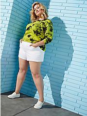 High Rise A-line Shortie Short - Vintage Stretch White, OPTIC WHITE, alternate