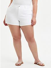 High Rise A-line Shortie Short - Vintage Stretch White, OPTIC WHITE, hi-res
