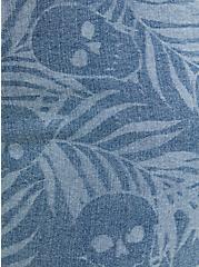 Mid Rise Midi Short - Super Soft Medium Wash, MONDAY BLUES, alternate
